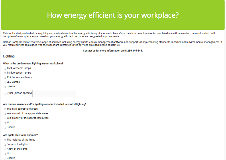 Carbonfootprint energy management cost carbon reduction energy efficiency test maxwellsz